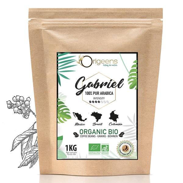 Gabriel ~ Café en grain Bio ~ 100% Arabica