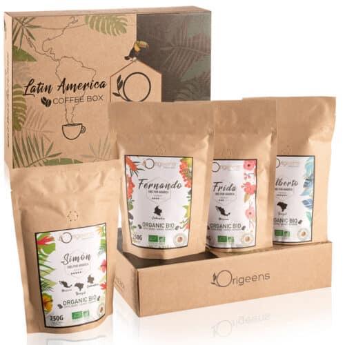 Coffret 4 cafés grains BIO
