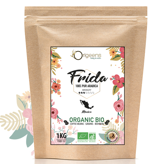 Frida ~ Café en grain Bio ~ Mexique